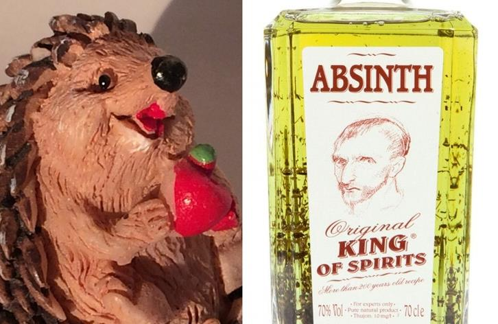 ABSINTH - KING OF SPIRITS ABSINTH S JEŽKEM - 0,7 litru - 1 ks