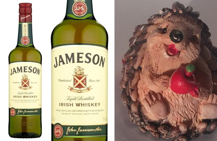 IRSKÁ WHISKEY JAMESON - JAMESON IRISH WHISKEY S JEŽKEM - 0,7 litru - 1 ks