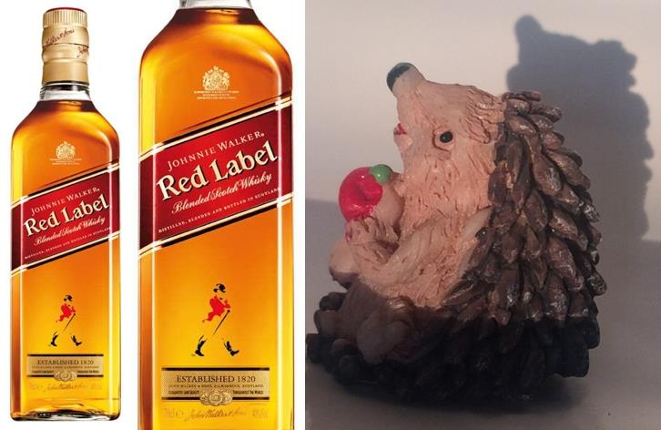 SKOTSKÁ WHISKY JOHNNIE WALKER Red Label S JEŽKEM - 0,7 litru - 1 ks